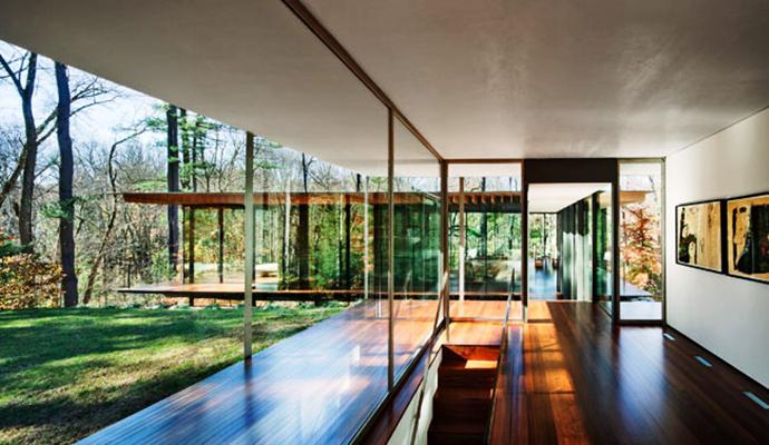 modern glass wall wooden house (3)