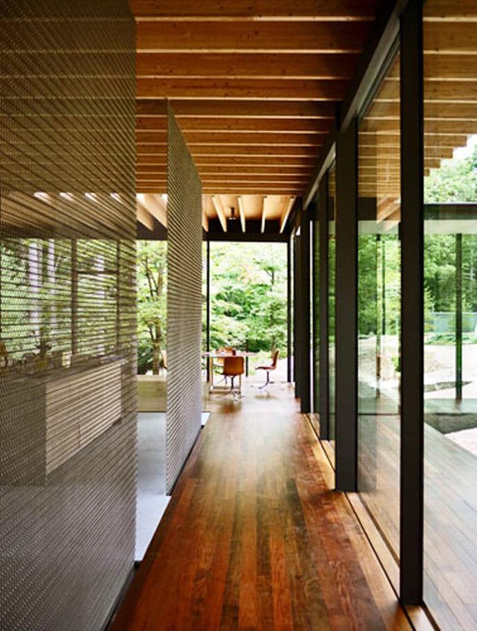 modern glass wall wooden house (4)