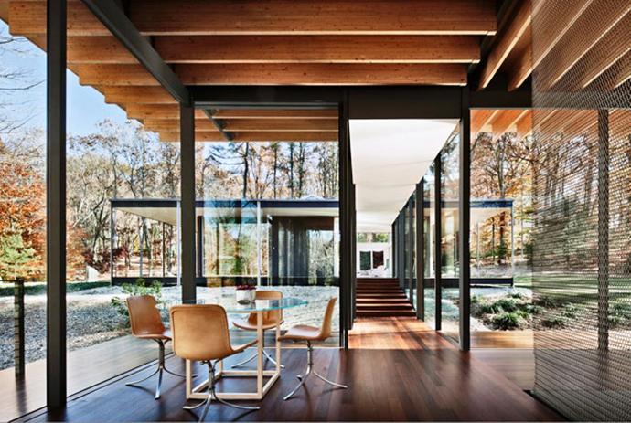 modern glass wall wooden house (5)