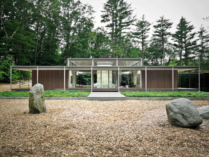 modern glass wall wooden house (8)