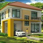 แบบบ้านสองชั้น 3 ห้องนอน 3 ห้องน้ำ ออกแบบแนวทันสมัย รองรับชีวิตครอบครัวได้สบาย