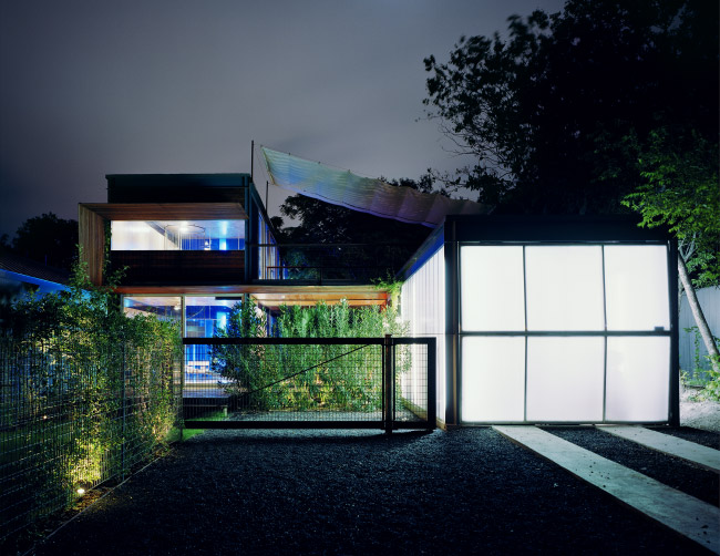 modern house two pavilion with garden green idea (7)