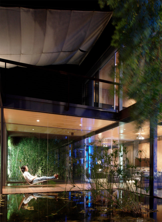 modern house two pavilion with garden green idea (8)