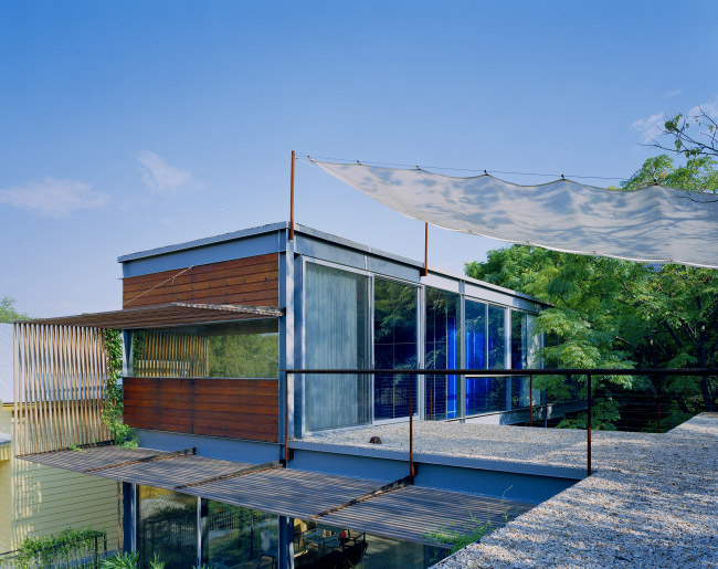 modern house two pavilion with garden green idea (9)