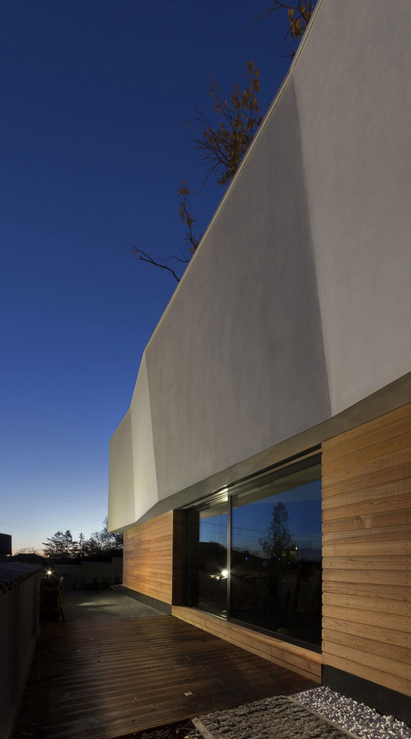 modern house with green yard oak tree (8)