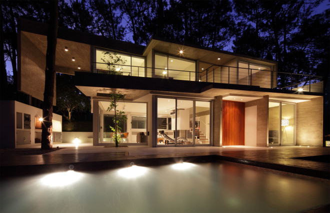 modern house with pool concrete in argentina (18)