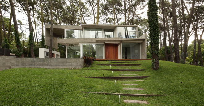 modern house with pool concrete in argentina (2)