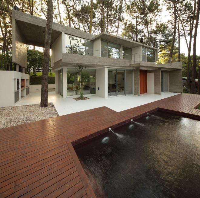 modern house with pool concrete in argentina (3)