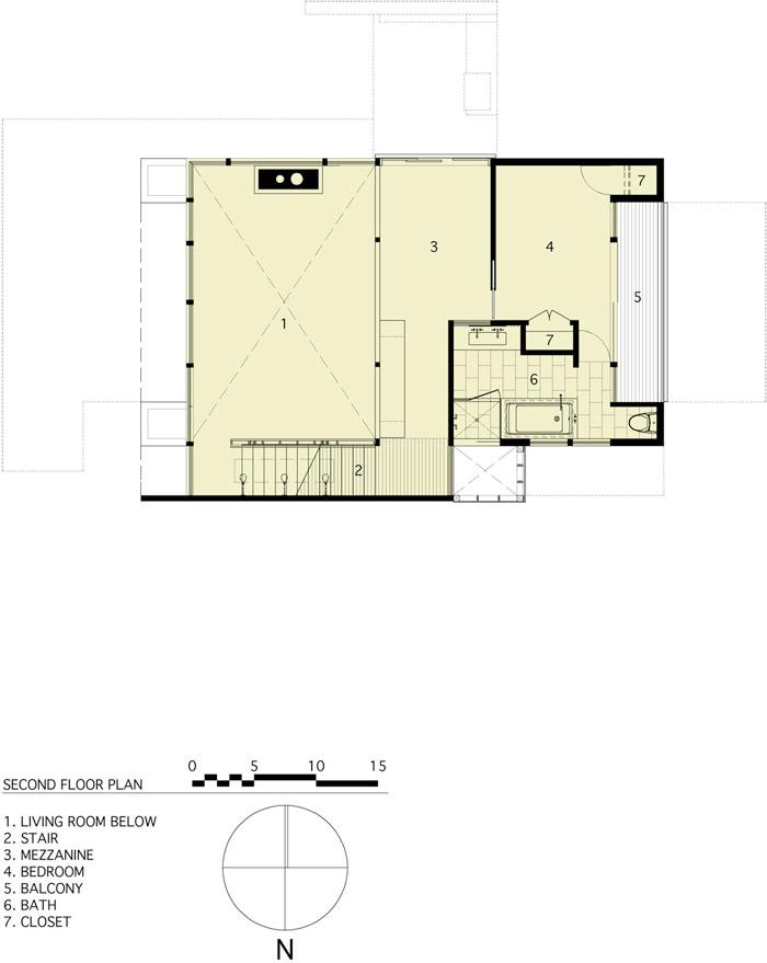 modern loft wooden box house in forest (10)