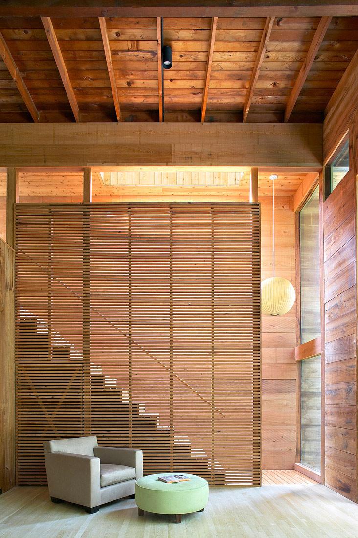 modern loft wooden box house in forest (7)