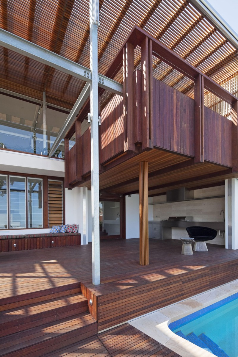 modern vacation house with garden and pool sydney (9)