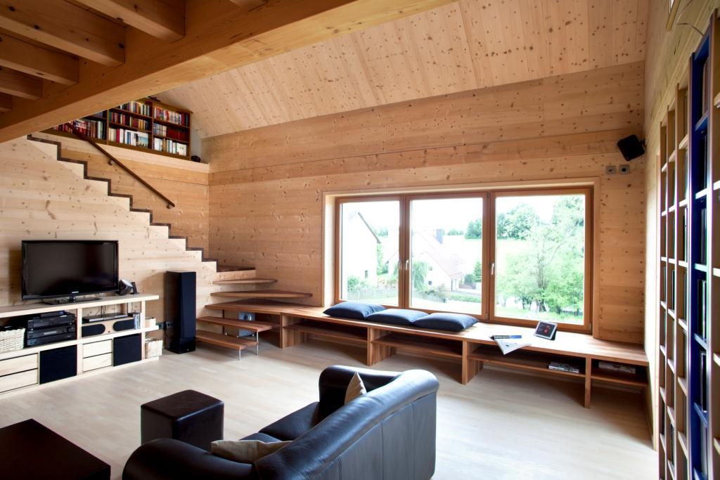 solar power modern house compact wood (3)