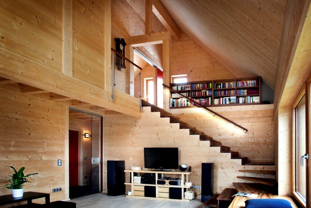solar power modern house compact wood (4)