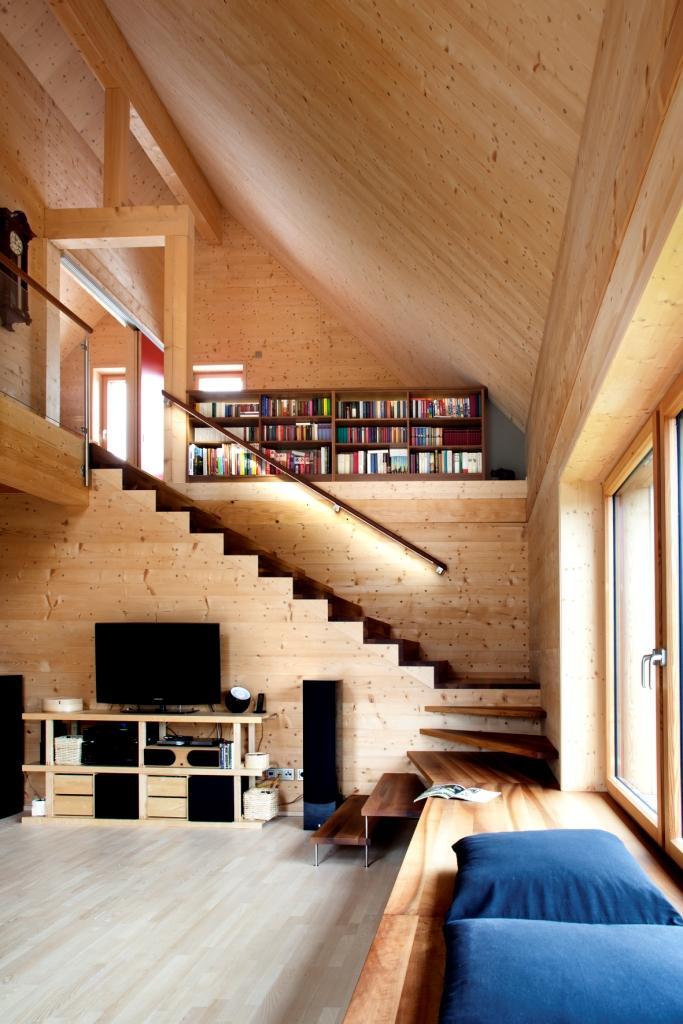 solar power modern house compact wood (5)