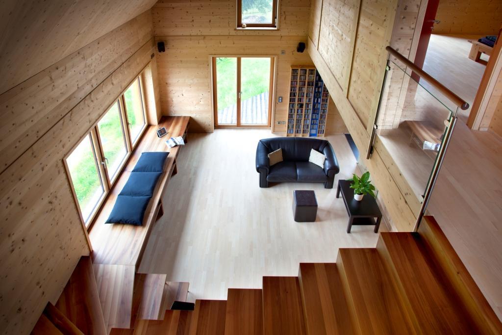 solar power modern house compact wood (6)