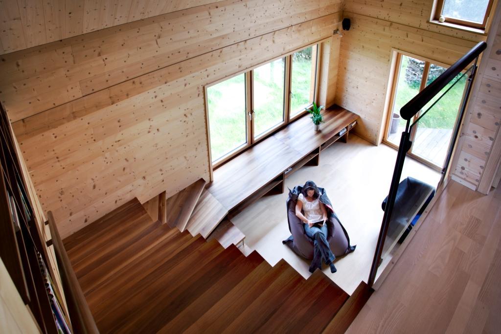 solar power modern house compact wood (7)
