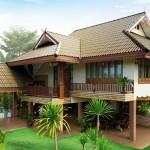แบบบ้านสองชั้นไทยประยุกต์ ออกแบบให้มีส่วนของใต้ถุน รองรับการใช้งานได้หลากหลาย
