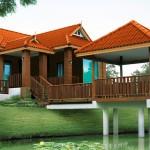 แบบบ้านทรงไทยประยุกต์พร้อมศาลาริมน้ำ เติมเต็มช่วงชีวิตแห่งการพักผ่อนสบายๆ