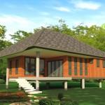 แบบบ้านชั้นเดียว ทรงหลังคาสูงและยกพื้นสูง เหมาะกับสภาพอากาศเมืองไทยในงบกำลังดี