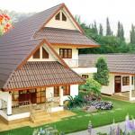 บ้านสองชั้นบนแนวคิดไทยประยุกต์ ออกแบบมีหน้าจั่วโดดเด่น สำหรับครอบครัวขนาดกลาง
