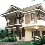แบบบ้านสองชั้นทรงไทยประยุกต์ สำหรับชีวิตครอบครัวยุคใหม่ เรียบง่ายแต่มีเอกลักษณ์