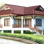 แบบบ้านไทยประยุกต์ ยกพื้นสูงขนาด 2 ห้องนอน รูปทรงมีเอกลักษณ์ ในงบประมาณจำกัด