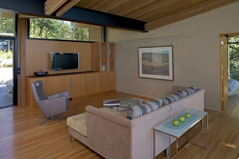 vacation house glass wall in washington usa (11)