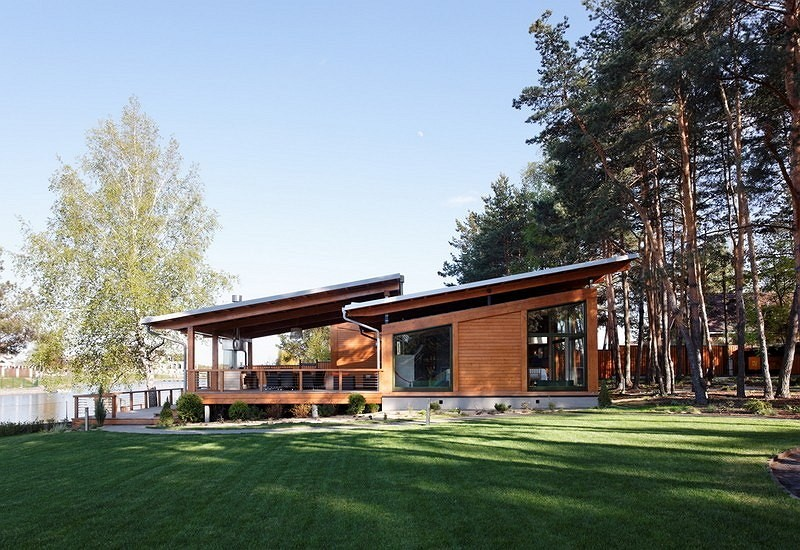 vacation house river house with garden wooden modern style (2)