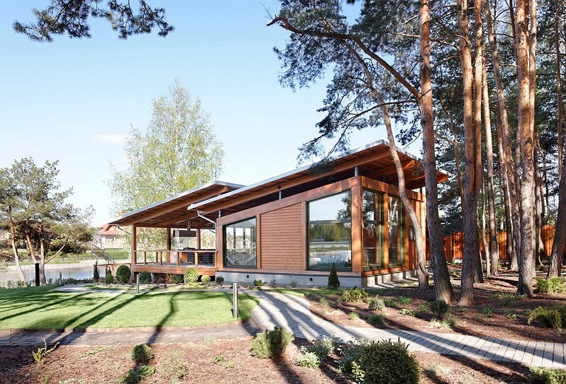 vacation house river house with garden wooden modern style (3)