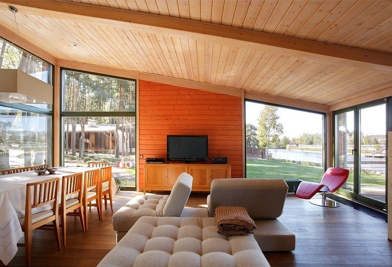 vacation house river house with garden wooden modern style (5)