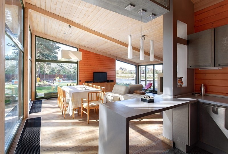 vacation house river house with garden wooden modern style (7)