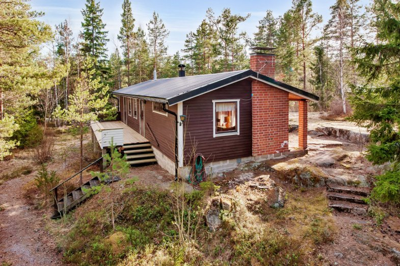 wooden cottage country house one storey two bedrooms (1)