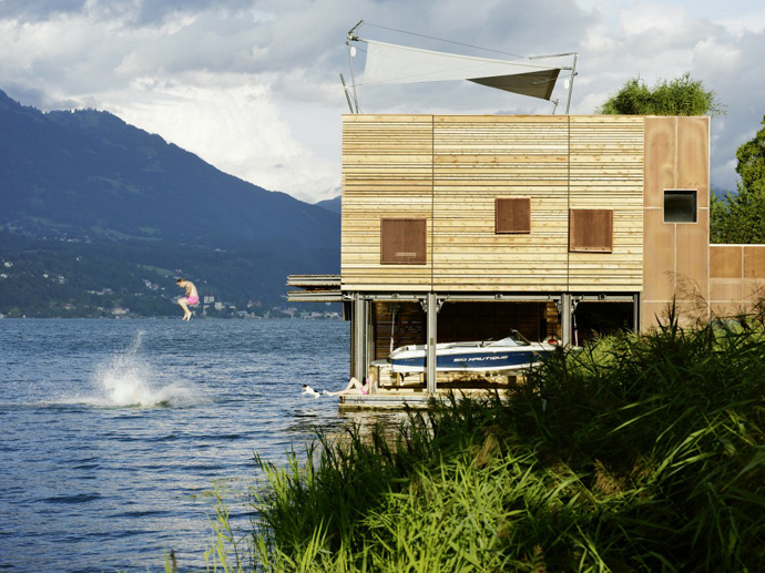 wooden modern boathouse in austria (6)