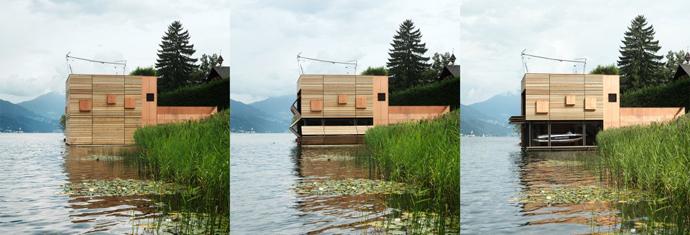 wooden modern boathouse in austria (7)
