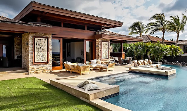 boutique villa resort style house with pool and garden in hawaii (1)