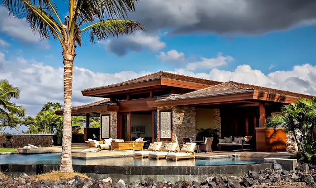 boutique villa resort style house with pool and garden in hawaii (2)