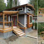 บ้านไม้สองชั้น บนพื้นที่ใช้งานขนาดเล็ก พร้อมระเบียงสำหรับนั่งชิล