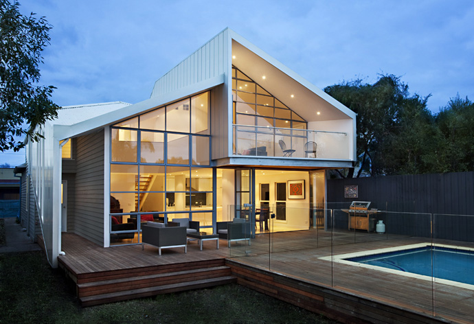 contemporary cottage house renovation with modern interior and pool (2)