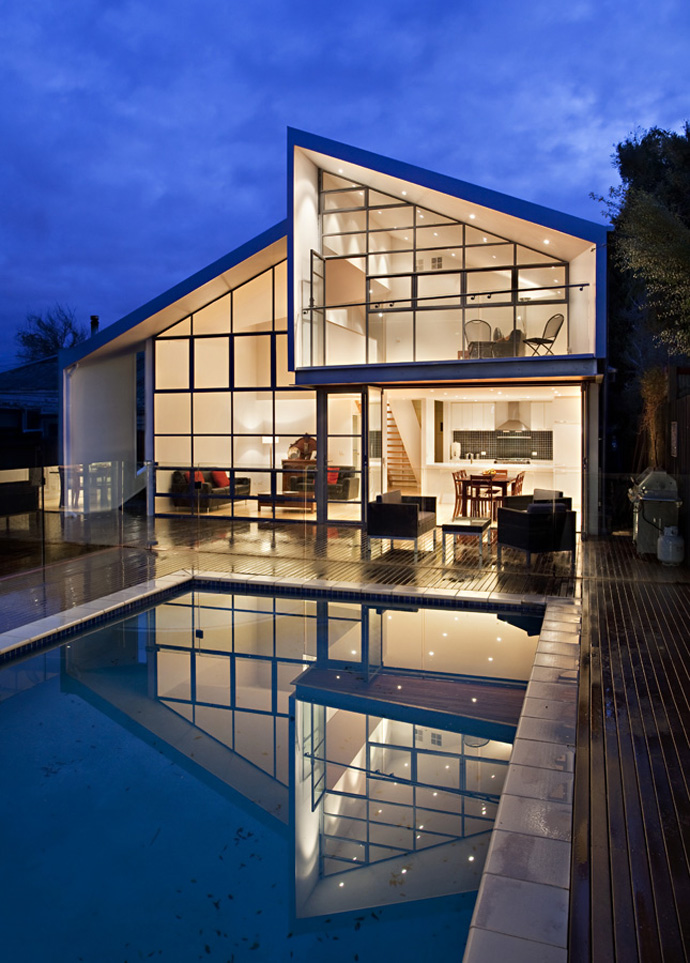 contemporary cottage house renovation with modern interior and pool (3)