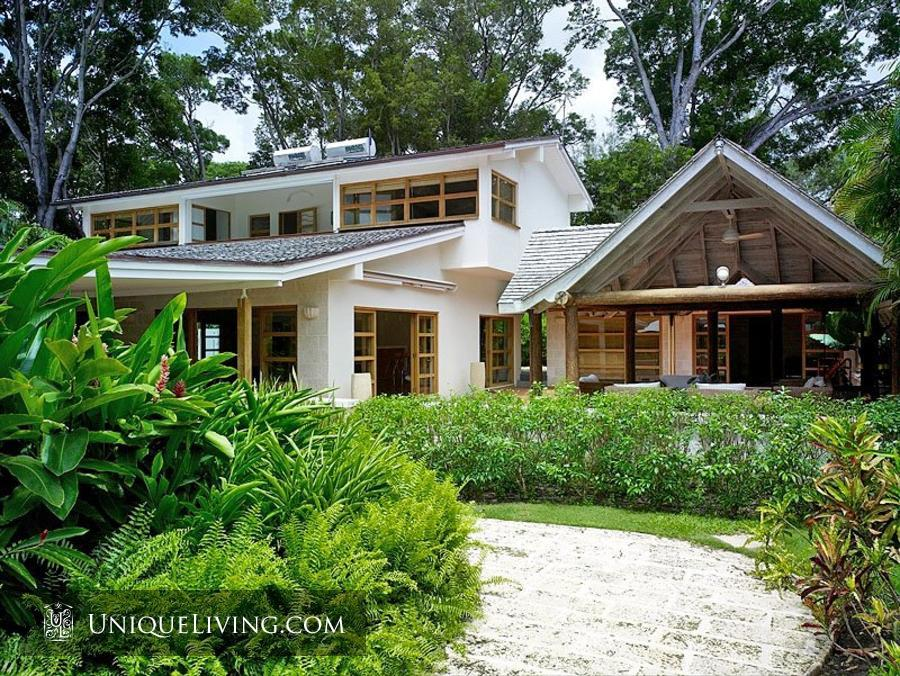contemporary tropical luxury house with garden green (1)
