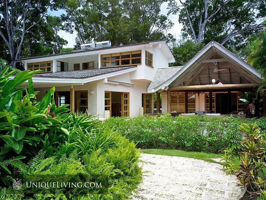 contemporary tropical luxury house with garden green (1)
