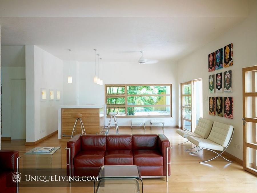 contemporary tropical luxury house with garden green (4)