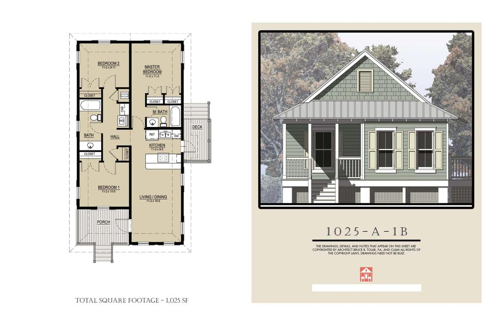 country cottage house idea with plan 95 sq ft 2 bedrooms (2)