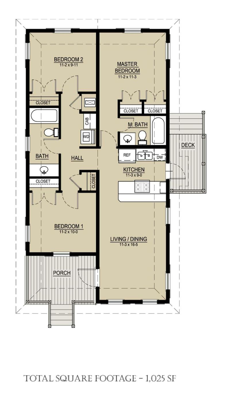 country cottage house idea with plan 95 sq ft 2 bedrooms (3)