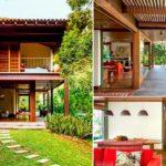 แบบบ้านสองชั้น ศิลปะดั้งเดิมผสมกับชีวิตสมัยใหม่ ในบรรยากาศสวนสีเขียวร่มรื่น