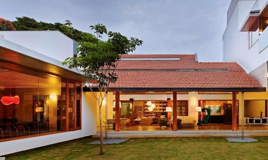 library house modern contemporary tropical in india (10)
