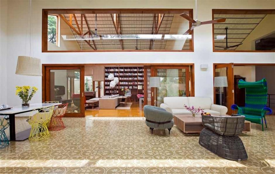 library house modern contemporary tropical in india (12)