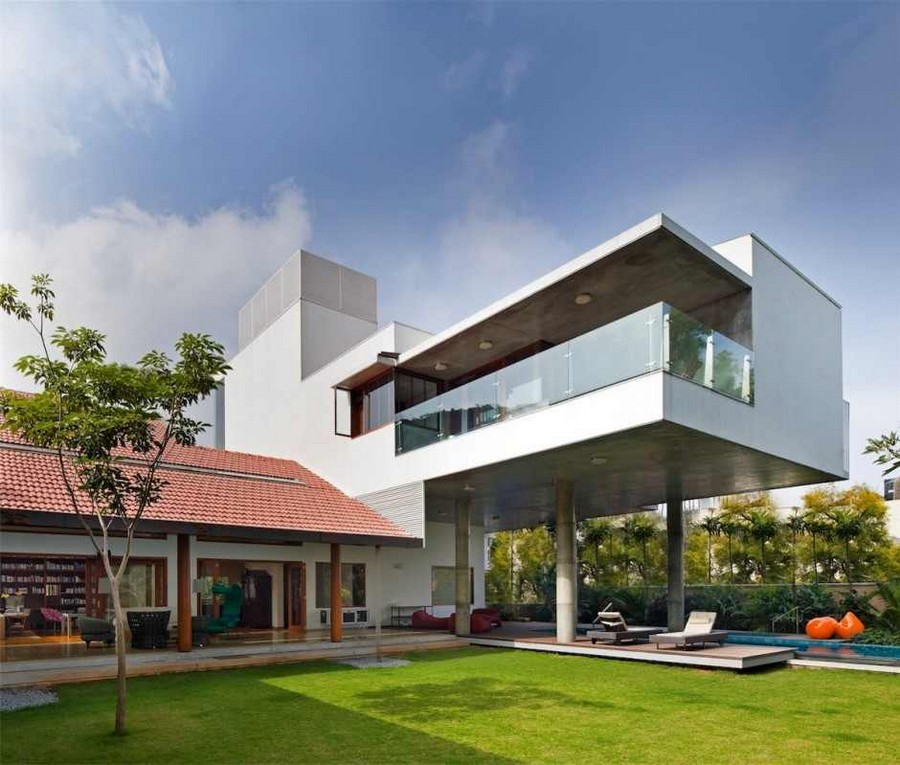library house modern contemporary tropical in india (5)