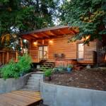 แบบบ้านกระท่อมไม้แนวโมเดิร์น แนวคิดอย่างเป็นเอกลักษณ์ ในขนาดกำลังดี