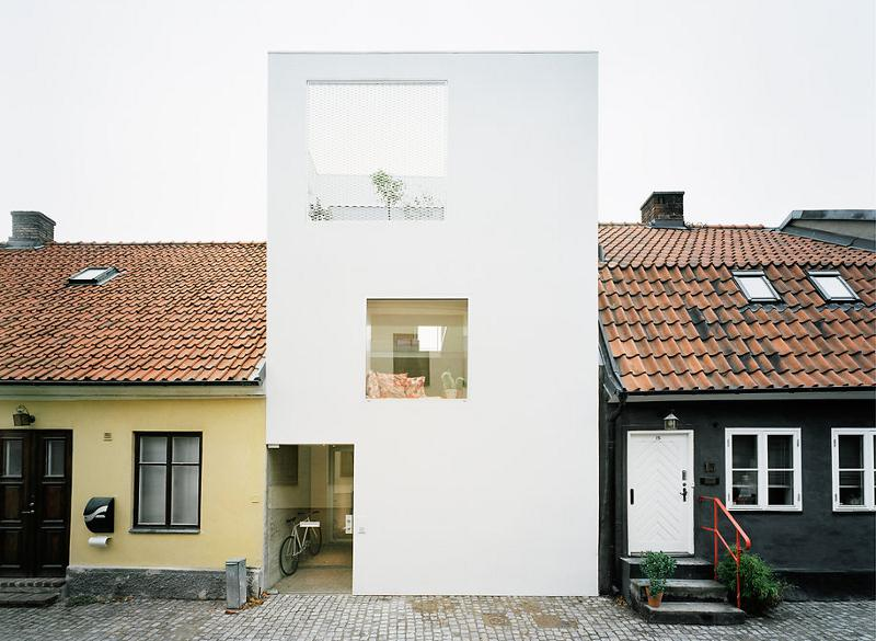 modern house idea townhouse with small office space in sweden (1)